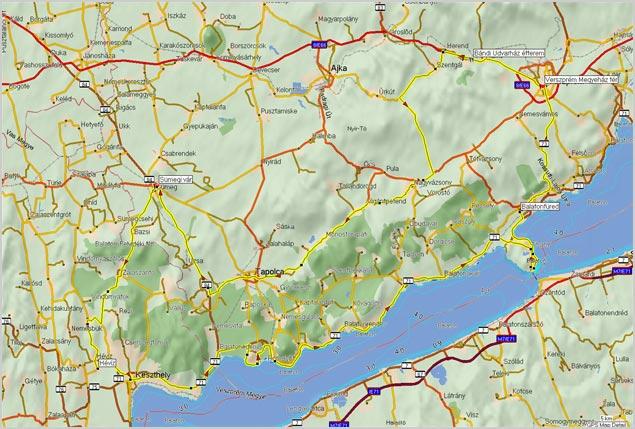 térkép balaton felvidék Balatonfelvidék | motorostura.hu térkép balaton felvidék