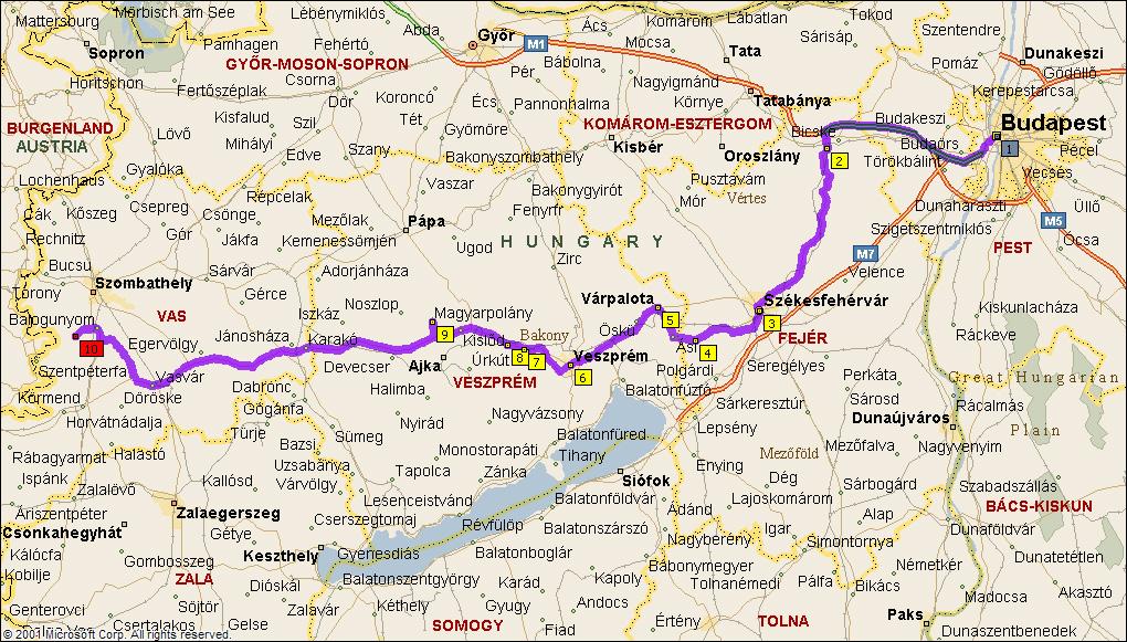 várpalota térkép A 8 as út mentén | motorostura.hu várpalota térkép