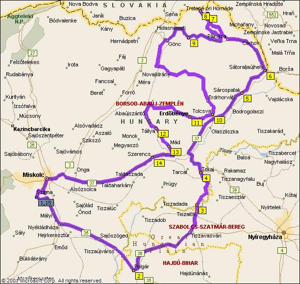 magyarország térkép szerencs Zemplén | motorostura.hu magyarország térkép szerencs